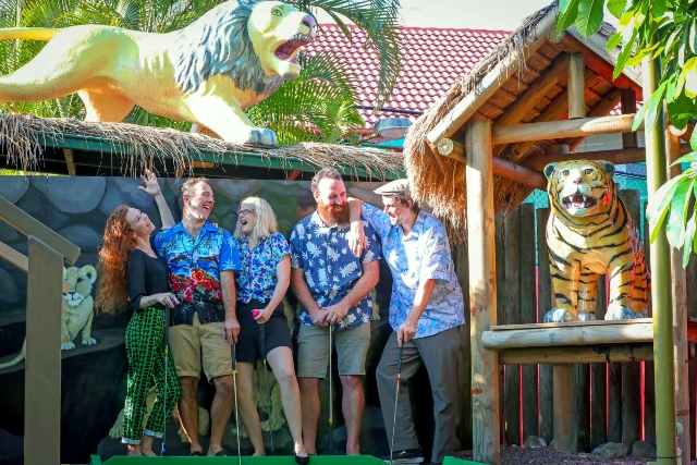 Hawaiian Barbie at Putt Putt Mermaid Beach
